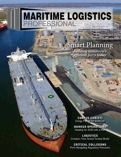 Cover of May/Jun 2017 issue of Maritime Logistics Professional Magazine