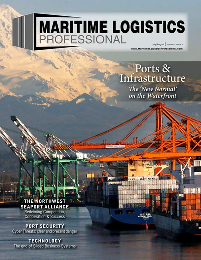 Cover of Jul/Aug 2017 issue of Maritime Logistics Professional Magazine