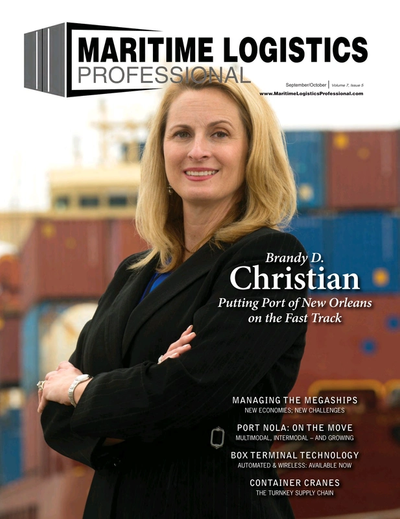 Cover of Sep/Oct 2017 issue of Maritime Logistics Professional Magazine
