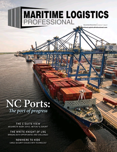 Cover of Nov/Dec 2017 issue of Maritime Logistics Professional Magazine