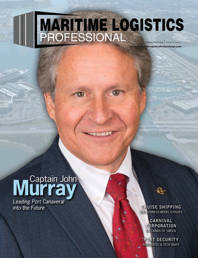 Cover of Jan/Feb 2018 issue of Maritime Logistics Professional Magazine