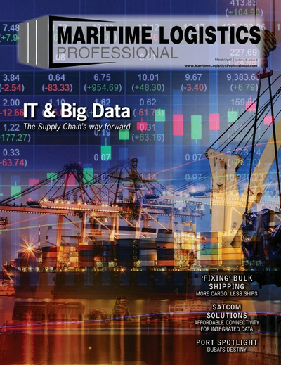 Cover of Mar/Apr 2018 issue of Maritime Logistics Professional Magazine
