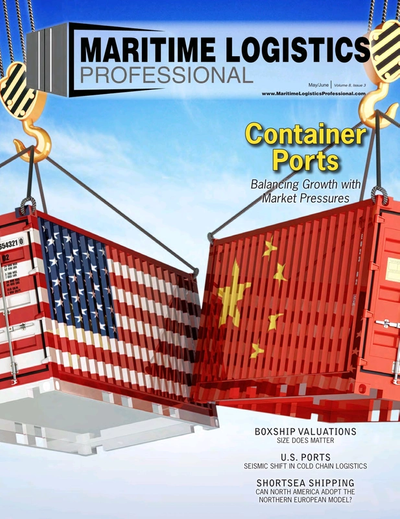 Cover of May/Jun 2018 issue of Maritime Logistics Professional Magazine