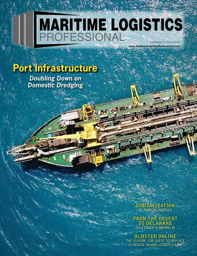 Cover of Jul/Aug 2018 issue of Maritime Logistics Professional Magazine