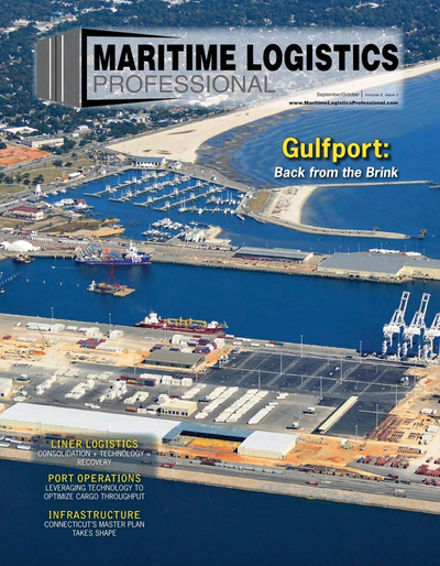 Cover of Sep/Oct 2018 issue of Maritime Logistics Professional Magazine