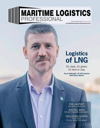 Cover of Nov/Dec 2018 issue of Maritime Logistics Professional Magazine