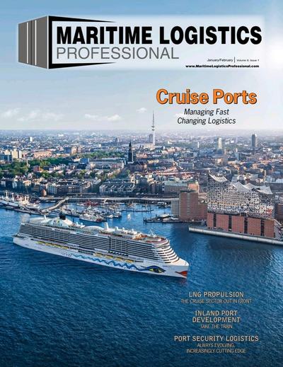 Cover of Jan/Feb 2019 issue of Maritime Logistics Professional Magazine