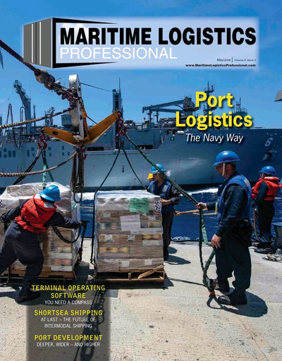 Cover of May/Jun 2019 issue of Maritime Logistics Professional Magazine