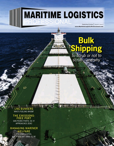 Cover of Sep/Oct 2019 issue of Maritime Logistics Professional Magazine