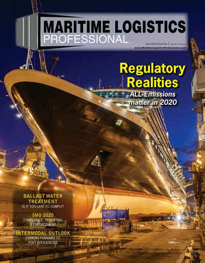 Cover of Nov/Dec 2019 issue of Maritime Logistics Professional Magazine