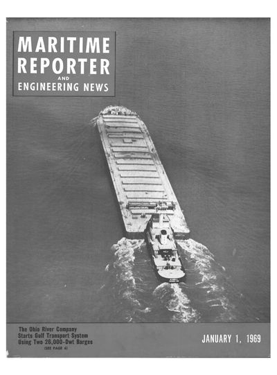 Cover of January 1969 issue of Maritime Reporter and Engineering News Magazine