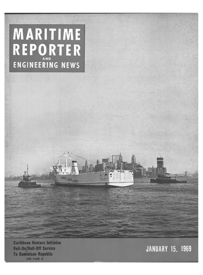 Cover of January 15, 1969 issue of Maritime Reporter and Engineering News Magazine
