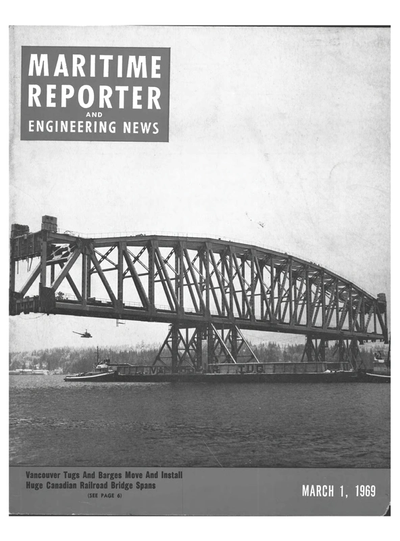 Cover of March 1969 issue of Maritime Reporter and Engineering News Magazine