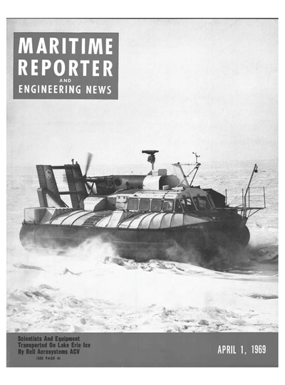 Cover of April 1969 issue of Maritime Reporter and Engineering News Magazine