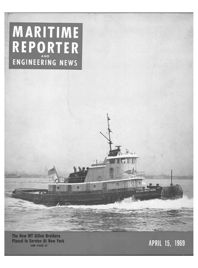Cover of April 15, 1969 issue of Maritime Reporter and Engineering News Magazine