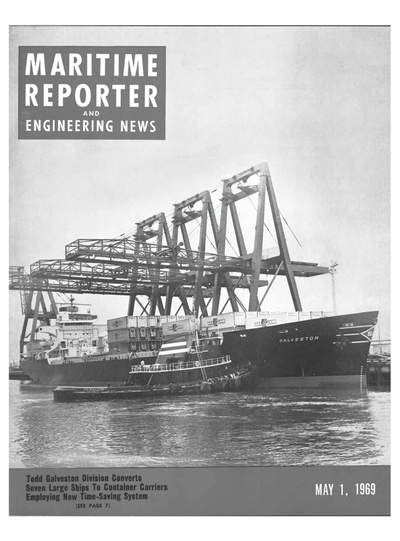 Cover of May 1969 issue of Maritime Reporter and Engineering News Magazine