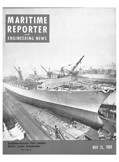 Cover of May 15, 1969 issue of Maritime Reporter and Engineering News Magazine