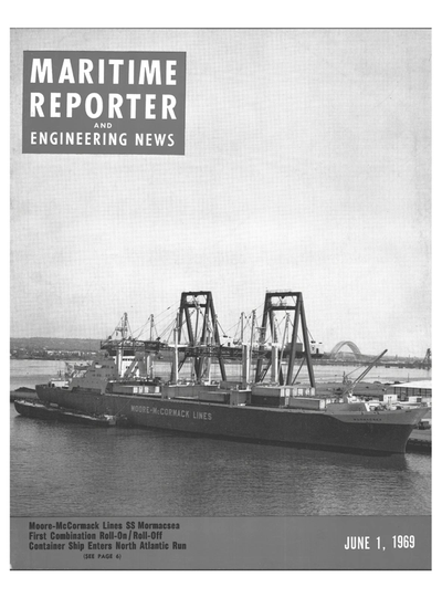 Cover of June 1969 issue of Maritime Reporter and Engineering News Magazine