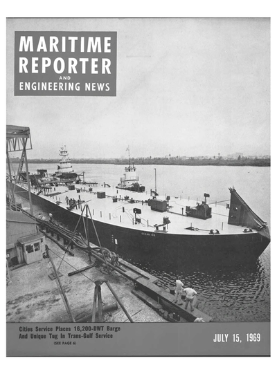 Cover of July 15, 1969 issue of Maritime Reporter and Engineering News Magazine