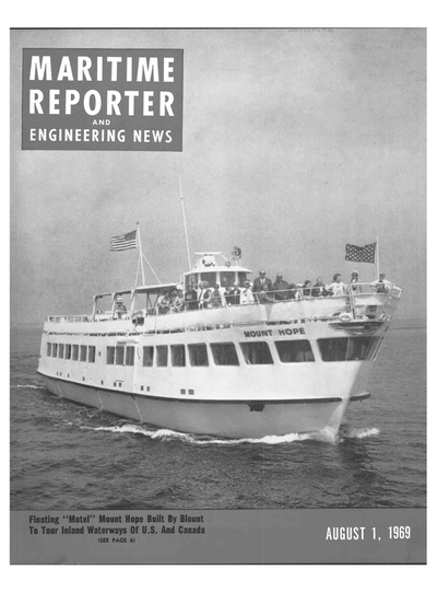 Cover of August 1969 issue of Maritime Reporter and Engineering News Magazine