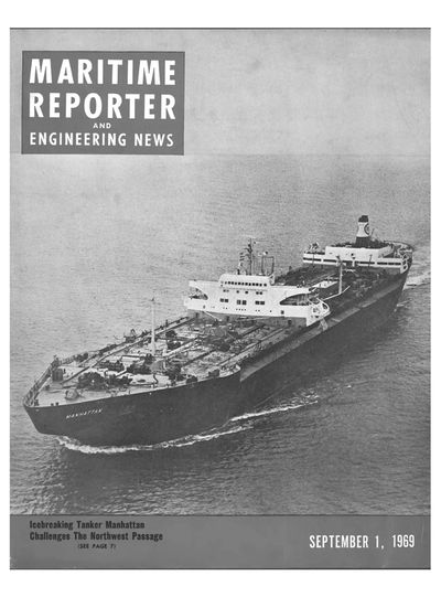 Cover of September 1969 issue of Maritime Reporter and Engineering News Magazine