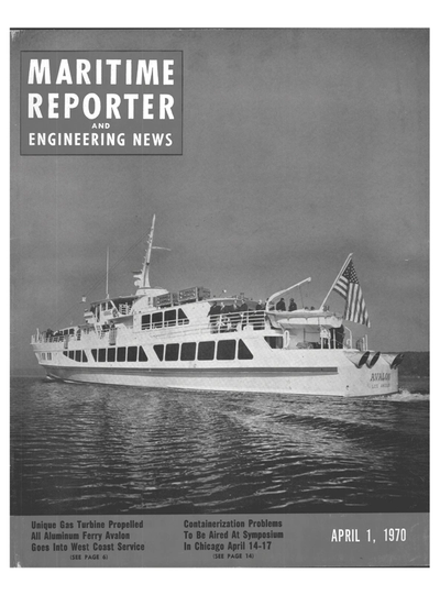 Cover of April 1970 issue of Maritime Reporter and Engineering News Magazine