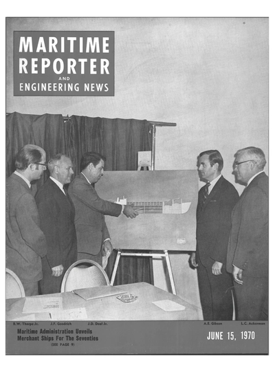 Cover of June 15, 1970 issue of Maritime Reporter and Engineering News Magazine
