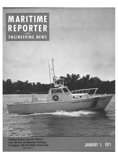 Cover of January 1971 issue of Maritime Reporter and Engineering News Magazine