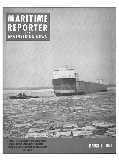 Cover of March 1971 issue of Maritime Reporter and Engineering News Magazine