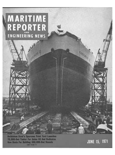 Cover of June 15, 1971 issue of Maritime Reporter and Engineering News Magazine