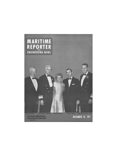 Cover of December 1971 issue of Maritime Reporter and Engineering News Magazine