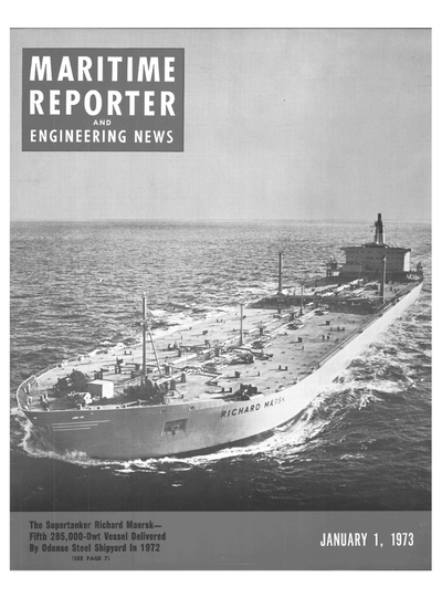 Cover of January 1973 issue of Maritime Reporter and Engineering News Magazine