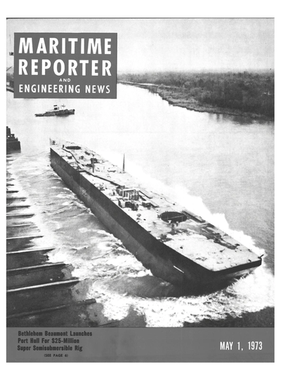 Cover of May 1973 issue of Maritime Reporter and Engineering News Magazine