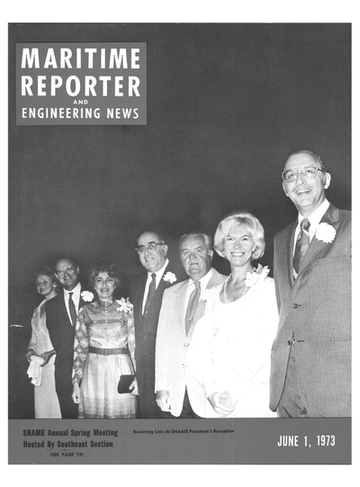 Cover of June 1973 issue of Maritime Reporter and Engineering News Magazine