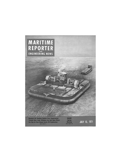 Cover of July 15, 1973 issue of Maritime Reporter and Engineering News Magazine