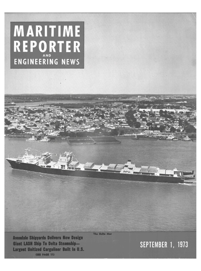 Cover of September 1973 issue of Maritime Reporter and Engineering News Magazine