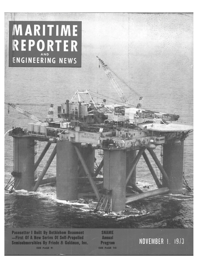 Cover of November 1973 issue of Maritime Reporter and Engineering News Magazine