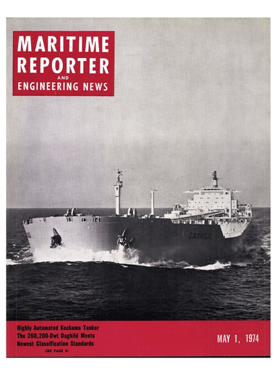 Cover of May 1974 issue of Maritime Reporter and Engineering News Magazine