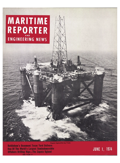 Cover of June 1974 issue of Maritime Reporter and Engineering News Magazine