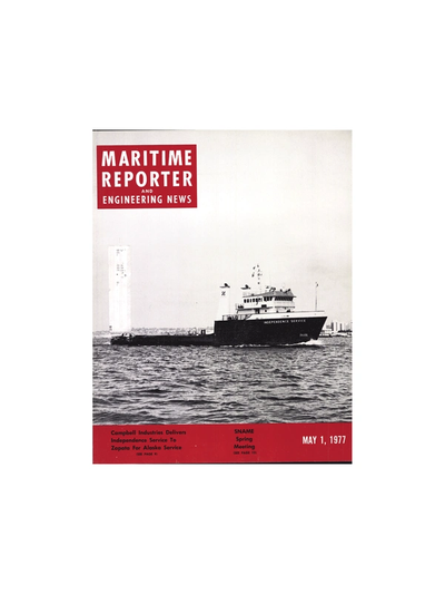 Cover of May 1977 issue of Maritime Reporter and Engineering News Magazine