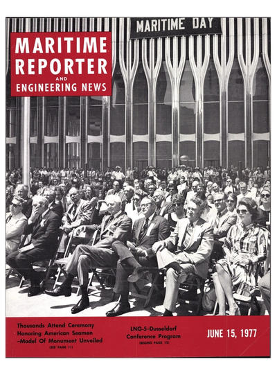 Cover of June 15, 1977 issue of Maritime Reporter and Engineering News Magazine