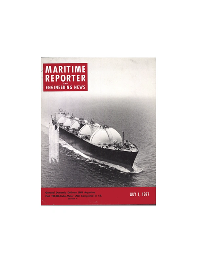 Cover of July 1977 issue of Maritime Reporter and Engineering News Magazine