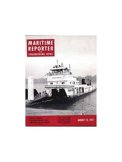 Cover of August 15, 1977 issue of Maritime Reporter and Engineering News Magazine