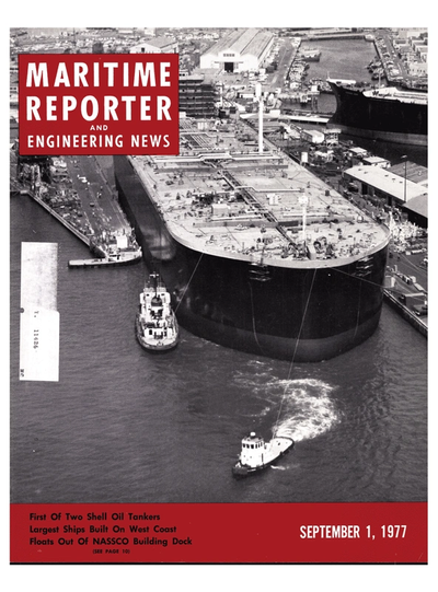 Cover of September 1977 issue of Maritime Reporter and Engineering News Magazine