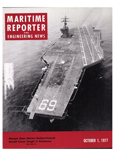Cover of October 1977 issue of Maritime Reporter and Engineering News Magazine