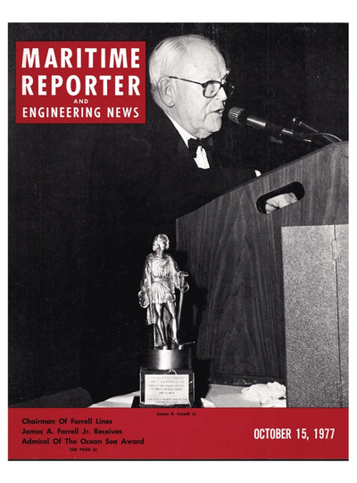 Cover of October 15, 1977 issue of Maritime Reporter and Engineering News Magazine