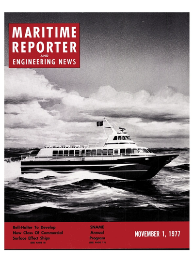 Cover of November 1977 issue of Maritime Reporter and Engineering News Magazine