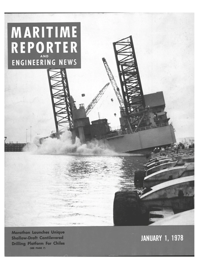 Cover of January 1978 issue of Maritime Reporter and Engineering News Magazine