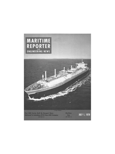 Cover of July 1978 issue of Maritime Reporter and Engineering News Magazine