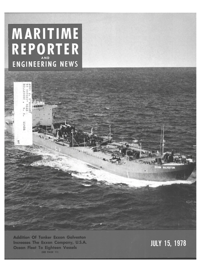 Cover of July 15, 1978 issue of Maritime Reporter and Engineering News Magazine